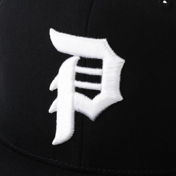 【即納】プリミティブ Primitive ユニセックス キャップ 帽子 CORE DIRTY P SNAPBACK BLACK/WHITE ロゴ スナップバック スナップキャップ|fermart-shoes|04