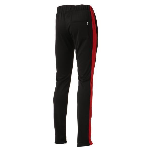 【即納】エピトミ EPTM メンズ スウェット・ジャージ ボトムス・パンツ TRACK PANTS BLACK/RED トラックパンツ 裾ジップ サイドライン|fermart-shoes|02