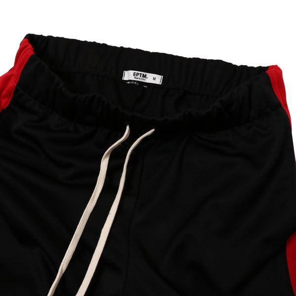 【即納】エピトミ EPTM メンズ スウェット・ジャージ ボトムス・パンツ TRACK PANTS BLACK/RED トラックパンツ 裾ジップ サイドライン|fermart-shoes|03