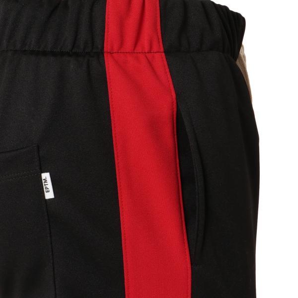 【即納】エピトミ EPTM メンズ スウェット・ジャージ ボトムス・パンツ TRACK PANTS BLACK/RED トラックパンツ 裾ジップ サイドライン|fermart-shoes|05