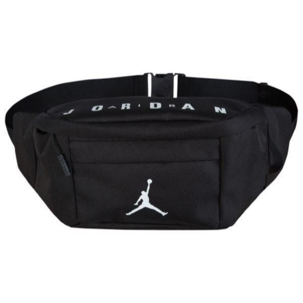 【即納】ナイキ ジョーダン Jordan ユニセックス ボディバッグ・ウエストポーチ バッグ Jumpman Crossbody Bag Black/White|fermart-shoes
