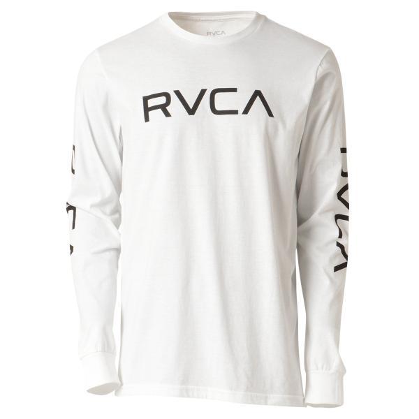 【即納】ルーカ RVCA メンズ 長袖Tシャツ トップス Big Rvca L/S WHITE ロンT ロングT 袖プリント ビッグロゴ|fermart-shoes
