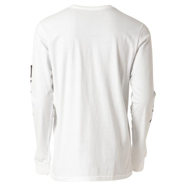 【即納】ルーカ RVCA メンズ 長袖Tシャツ トップス Big Rvca L/S WHITE ロンT ロングT 袖プリント ビッグロゴ|fermart-shoes|02