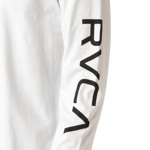 【即納】ルーカ RVCA メンズ 長袖Tシャツ トップス Big Rvca L/S WHITE ロンT ロングT 袖プリント ビッグロゴ|fermart-shoes|05
