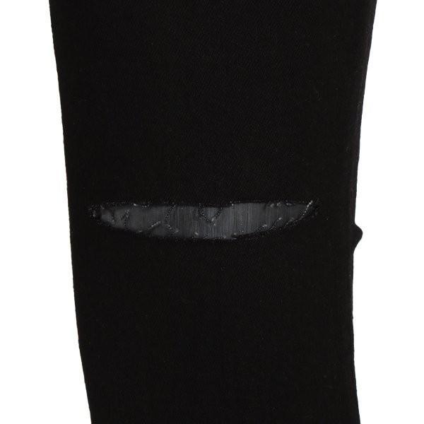 【即納】エイソス ASOS メンズ ジーンズ・デニム ボトムス・パンツ Super Skinny Jeans With Knee Rips Black|fermart-shoes|05