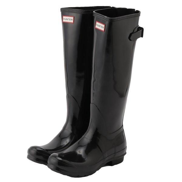 【即納】ハンター HUNTER レディース レインシューズ・長靴 シューズ・靴 WOMENS ORG BACK ADJUST GLOSS BOOTS BLK|fermart-shoes
