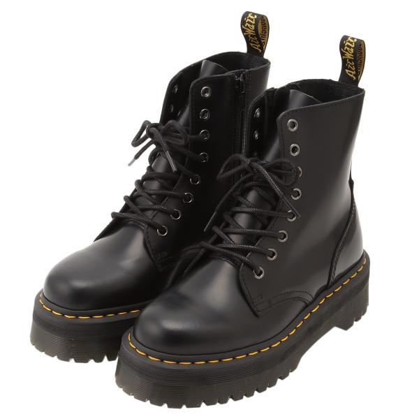 【即納】ドクターマーチン Dr. Martens レディース ブーツ シューズ・靴 Jadon 8 Eye Boots BLACK サイドジップ コンバットブーツ 8ホール|fermart-shoes