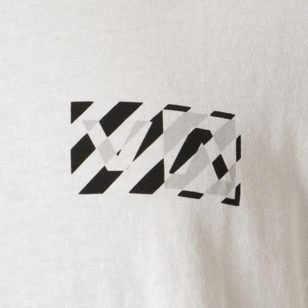 【即納】ルーカ RVCA メンズ 長袖Tシャツ トップス Hazard L/S WHITE ロンT ロングT ロゴ バイアスプリント|fermart-shoes|03