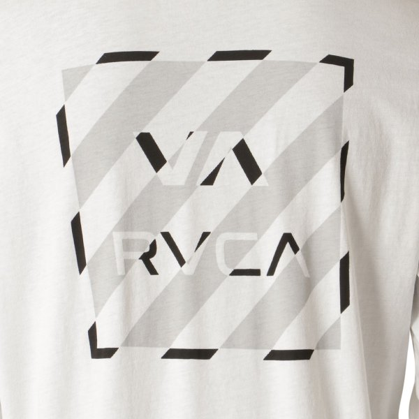 【即納】ルーカ RVCA メンズ 長袖Tシャツ トップス Hazard L/S WHITE ロンT ロングT ロゴ バイアスプリント|fermart-shoes|04