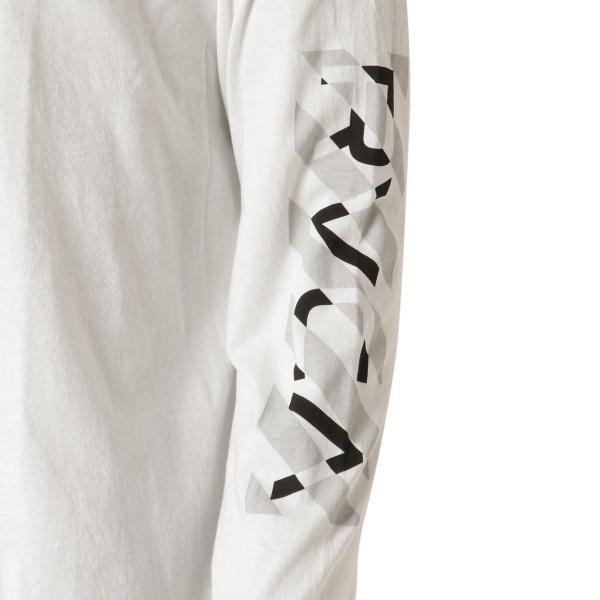 【即納】ルーカ RVCA メンズ 長袖Tシャツ トップス Hazard L/S WHITE ロンT ロングT ロゴ バイアスプリント|fermart-shoes|06