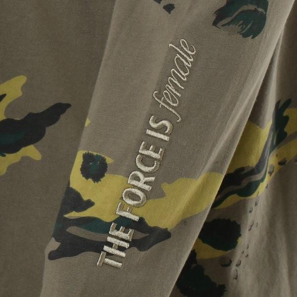 【即納】ナイキ NIKE レディース 長袖Tシャツ トップス ロンT ロングT ロングスリーブ NIKE WOMEN CAMO LS TEE KHAKI|fermart-shoes|04