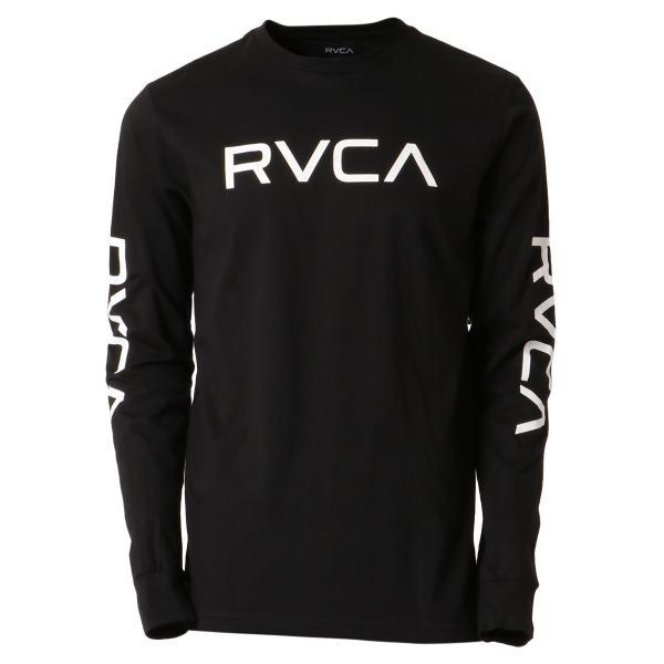 【即納】ルーカ RVCA メンズ 長袖Tシャツ トップス Big Rvca L/S BLACK ロンT ロングT 袖プリント ビッグロゴ|fermart-shoes