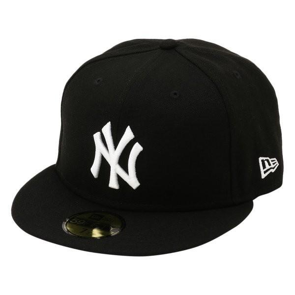 【即納】ニューエラ New Era メンズ キャップ 帽子 MLB BASIC 5950 NEYYAN BLKWHI Hat BLKWHI|fermart-shoes