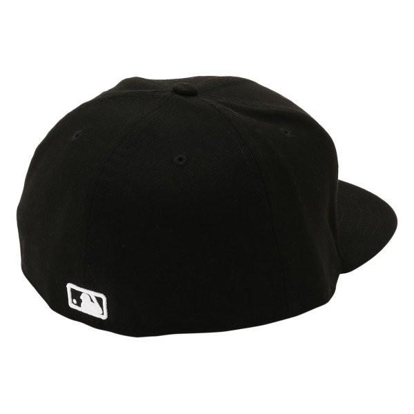 【即納】ニューエラ New Era メンズ キャップ 帽子 MLB BASIC 5950 NEYYAN BLKWHI Hat BLKWHI|fermart-shoes|02