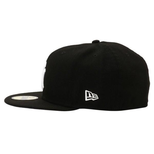 【即納】ニューエラ New Era メンズ キャップ 帽子 MLB BASIC 5950 NEYYAN BLKWHI Hat BLKWHI|fermart-shoes|03