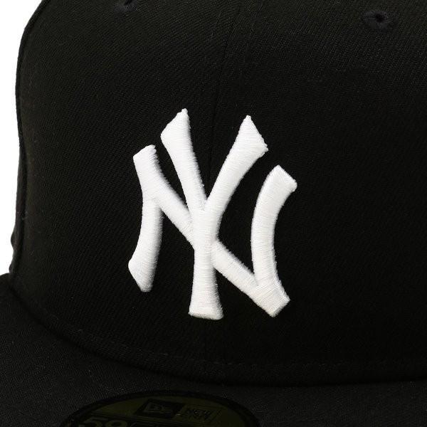 【即納】ニューエラ New Era メンズ キャップ 帽子 MLB BASIC 5950 NEYYAN BLKWHI Hat BLKWHI|fermart-shoes|04