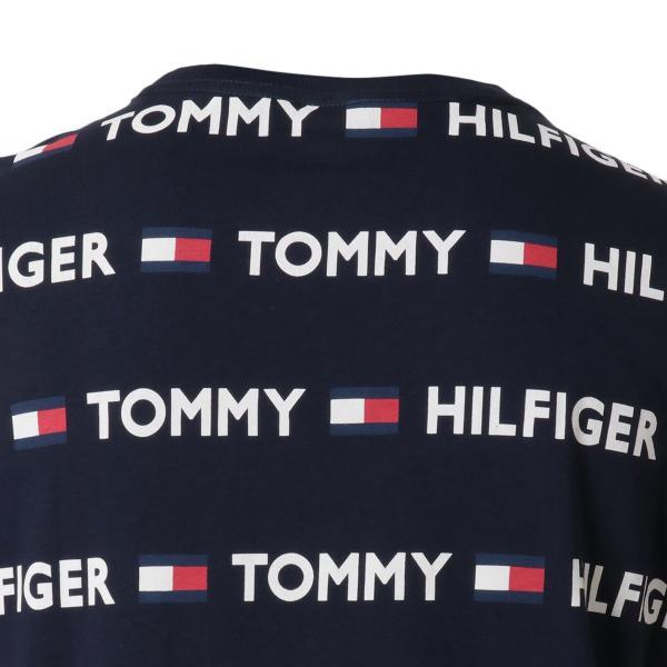 【即納】トミー ヒルフィガー Tommy Hilfiger メンズ Tシャツ トップス CREW TEE DARK NAVY ロゴ 総柄 クルーネック|fermart-shoes|05