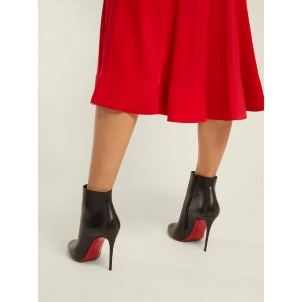 クリスチャン ルブタン Christian Louboutin レディース ブーツ シューズ・靴 Eloise 100 leather ankle boots Black