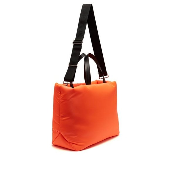プラダ Prada レディース トートバッグ バッグ Logo-embellished padded-nylon tote bag Neon-orange