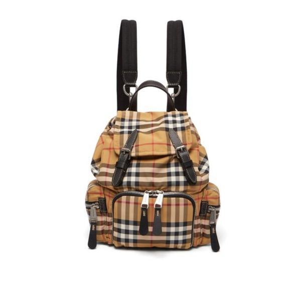 バーバリー Burberry レディース バックパック・リュック バッグ Vintage-check mini canvas backpack Tan brown