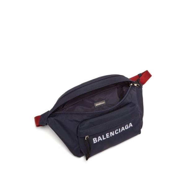 バレンシアガ Balenciaga レディース ボディバッグ・ウエストポーチ バッグ Wheel logo-embroidered belt bag Navy
