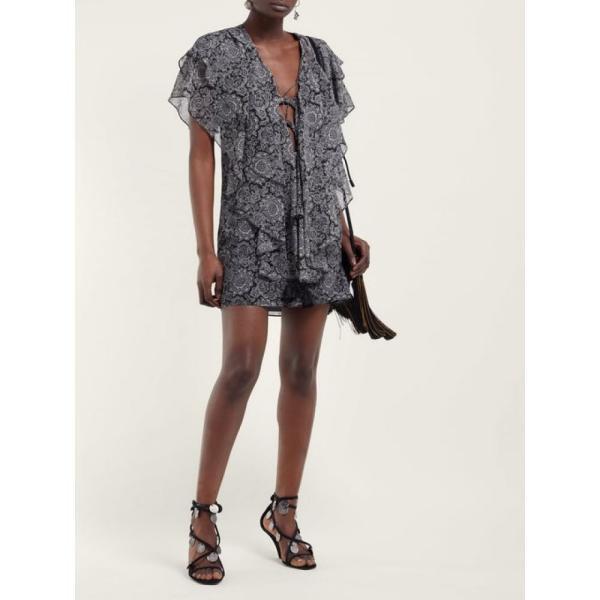 イヴ サンローラン Saint Laurent レディース サンダル・ミュール シューズ・靴 Kim coin-embellished suede wedge sandals Black
