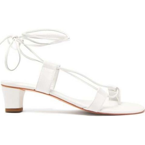 マルティニアーノ Martiniano レディース サンダル・ミュール シューズ・靴 Pavone leather sandals White