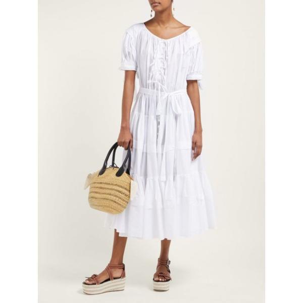 ムーニュ Muun レディース バッグ Tina woven-grass basket bag Beige