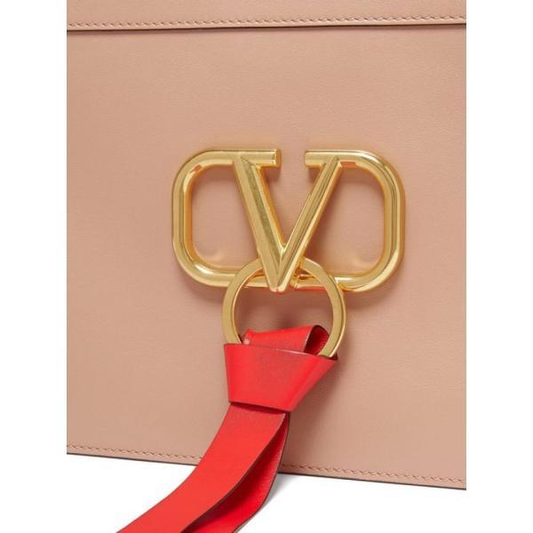ヴァレンティノ Valentino レディース クラッチバッグ バッグ V-ring leather pouch Pink