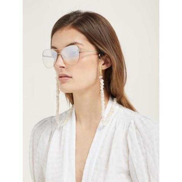 フレームチェーン Frame Chain レディース ジュエリー・アクセサリー Teenage Kicks mother-of-pearl glasses chain White