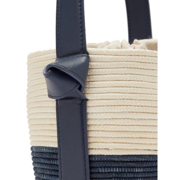 セスタ コレクティブ Cesta Collective レディース ハンドバッグ バッグ Lunchpail woven-sisal bucket bag Navy