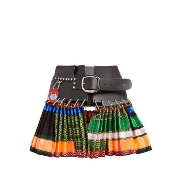 チョポヴァ ロウェナ Chopova Lowena レディース ミニスカート スカート Pleated leather and wool mini skirt multicoloured
