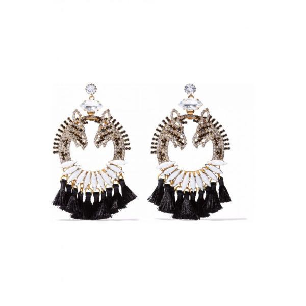 エリザベス コール ELIZABETH COLE レディース イヤリング・ピアス ジュエリー・アクセサリー Tasseled gold-tone, crystal and stone earrings Gold