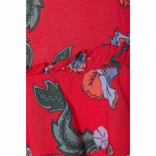 ラブ サム LOVE SAM レディース トップス Crochet-trimmed floral-print crepe de chine peplum top Red