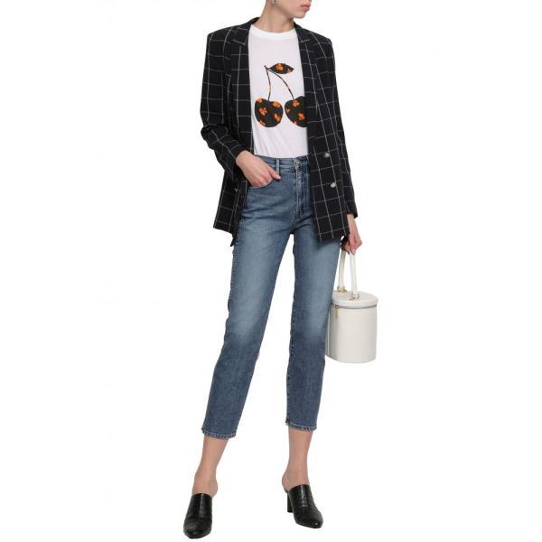 スリー バイ ワン 3x1 レディース ジーンズ・デニム ボトムス・パンツ Cropped faded high-rise slim-leg jeans Mid denim