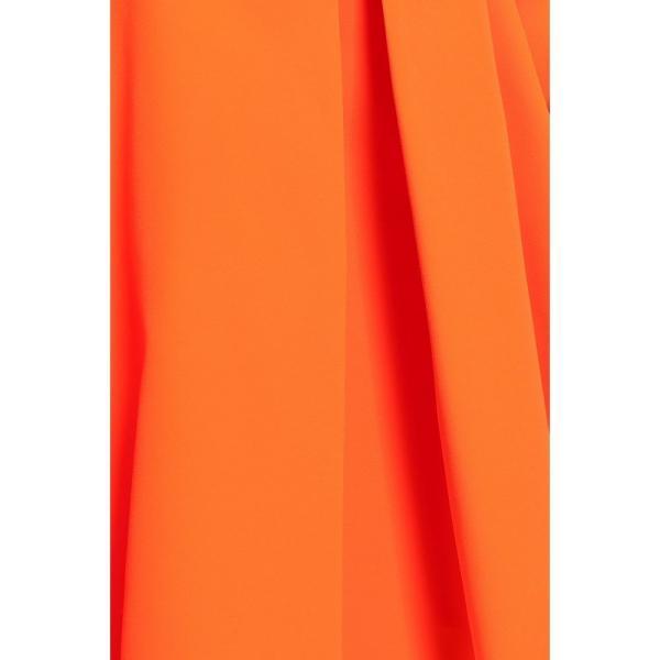 ミリー MILLY レディース オフショルダー トップス Off-the-shoulder knotted cady top Bright orange