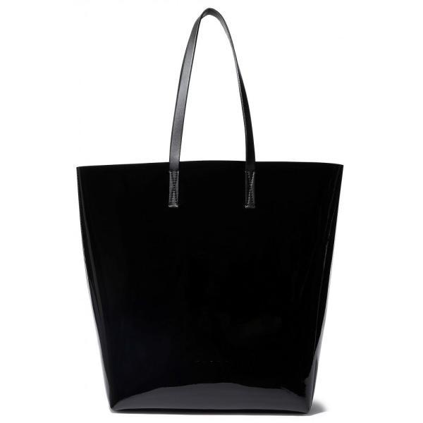 マルニ MARNI レディース トートバッグ バッグ Faux patent-leather tote Black