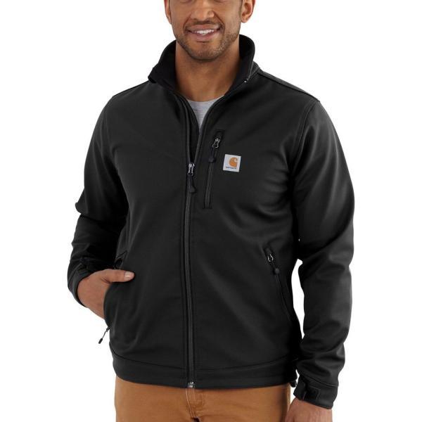 カーハート Carhartt メンズ ジャケット ソフトシェルジャケット アウター crowley softshell jacket Black|fermart2-store