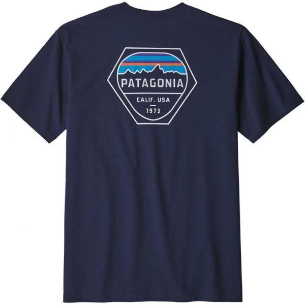 パタゴニア Patagonia メンズ Tシャツ トップス Fitz Roy Hex Responsibili-Tee T-Shirt Classic Navy|fermart2-store|02