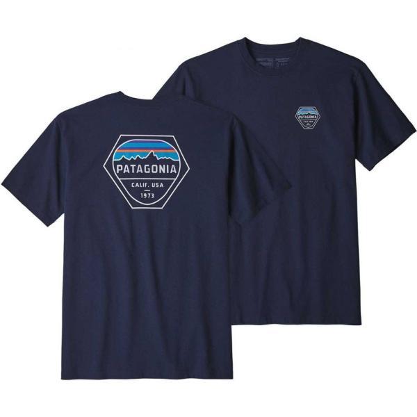 パタゴニア Patagonia メンズ Tシャツ トップス Fitz Roy Hex Responsibili-Tee T-Shirt Classic Navy|fermart2-store|03