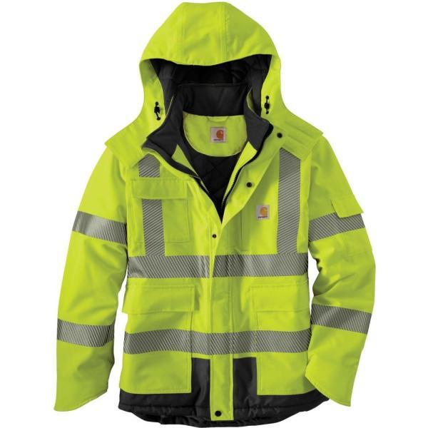 カーハート Carhartt メンズ ジャケット アウター High Visibility Waterproof Class 3 Insulated Sherwood Jacket Brite Lime|fermart2-store