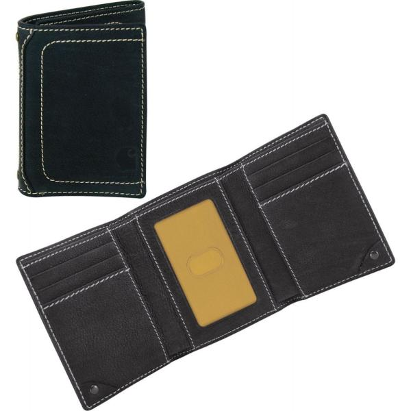カーハート Carhartt メンズ 財布 pebble trifold wallet Black|fermart2-store
