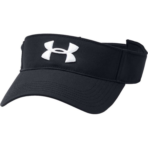 アンダーアーマー Under Armour メンズ サンバイザー 帽子 Core Golf Visor Black/White|fermart2-store