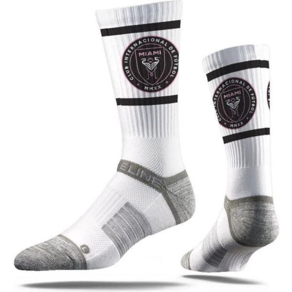 ストライドライン Strideline ユニセックス サッカー Inter Miami CF White Crew Socks