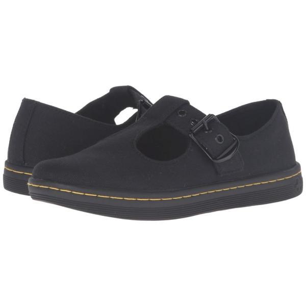 ドクターマーチン Dr. Martens レディース ローファー・オックスフォード シューズ・靴 Woolwich T Bar Black Canvas fermart2-store