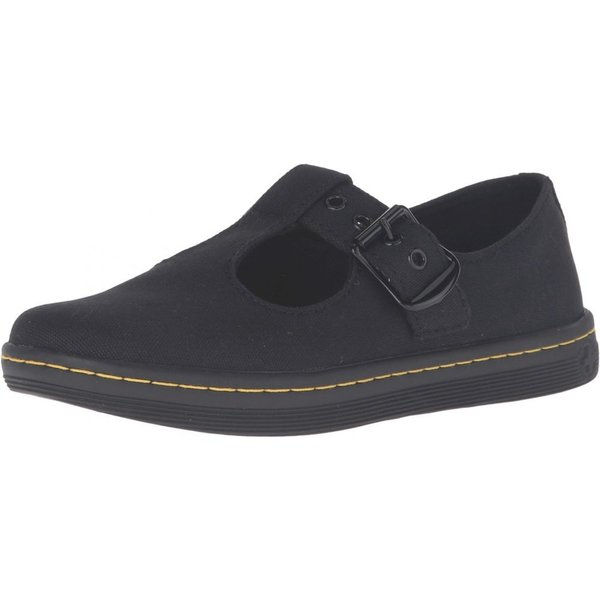 ドクターマーチン Dr. Martens レディース ローファー・オックスフォード シューズ・靴 Woolwich T Bar Black Canvas fermart2-store 02