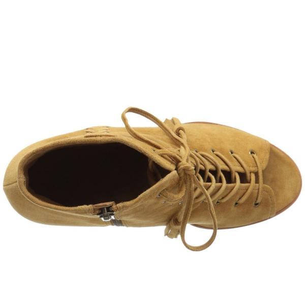 フライ レディース ブーツ シューズ・靴 Dani Whipstitch Lace Camel Suede