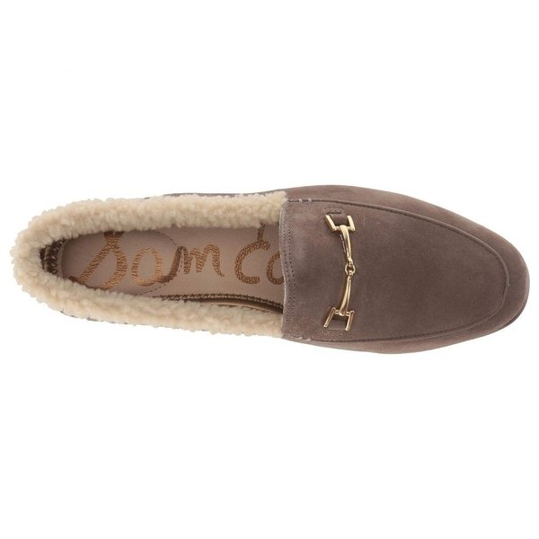 サム エデルマン Sam Edelman レディース ローファー・オックスフォード シューズ・靴 Loraine Flint Grey/Natural Kid Suede Leather/Vegan Shearling Fur