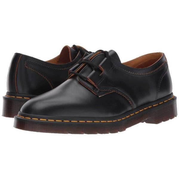 ドクターマーチン Dr. Martens レディース ローファー・オックスフォード シューズ・靴 1461 Ghillie Shoe Black Vintage Smooth|fermart2-store