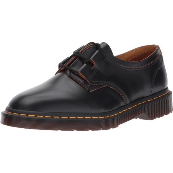 ドクターマーチン Dr. Martens レディース ローファー・オックスフォード シューズ・靴 1461 Ghillie Shoe Black Vintage Smooth|fermart2-store|02